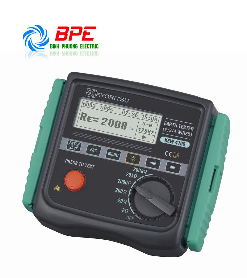Đồng hồ đo điện trở đất - Điện trở suất của đất Kyoritsu 4106