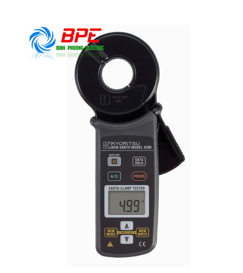 ĐỒNG HỒ ĐO ĐIỆN TRỞ ĐẤT - Ampe kìm đo điện trở đất Kyoritsu 4200