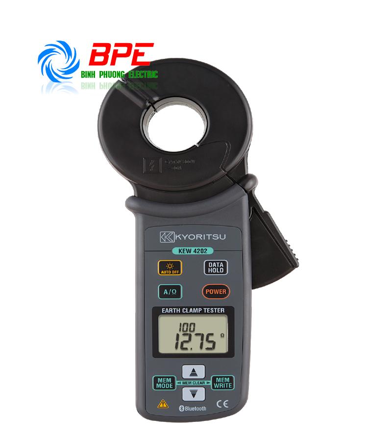 ĐỒNG HỒ ĐO ĐIỆN TRỞ ĐẤT - Ampe kìm đo điện trở đất Kyoritsu 4202
