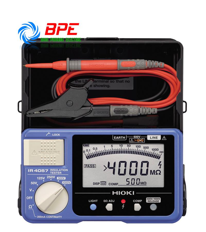 Thiết bị Kiểm tra Điện trở cách điện Hioki IR4057-20